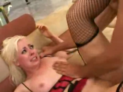 Blonde amateur's first hardcore sex session caught on camera